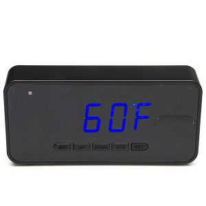64GB HD 1080P PIR Klockkamera Motion Sensor Hidden Camre Clock Alarm