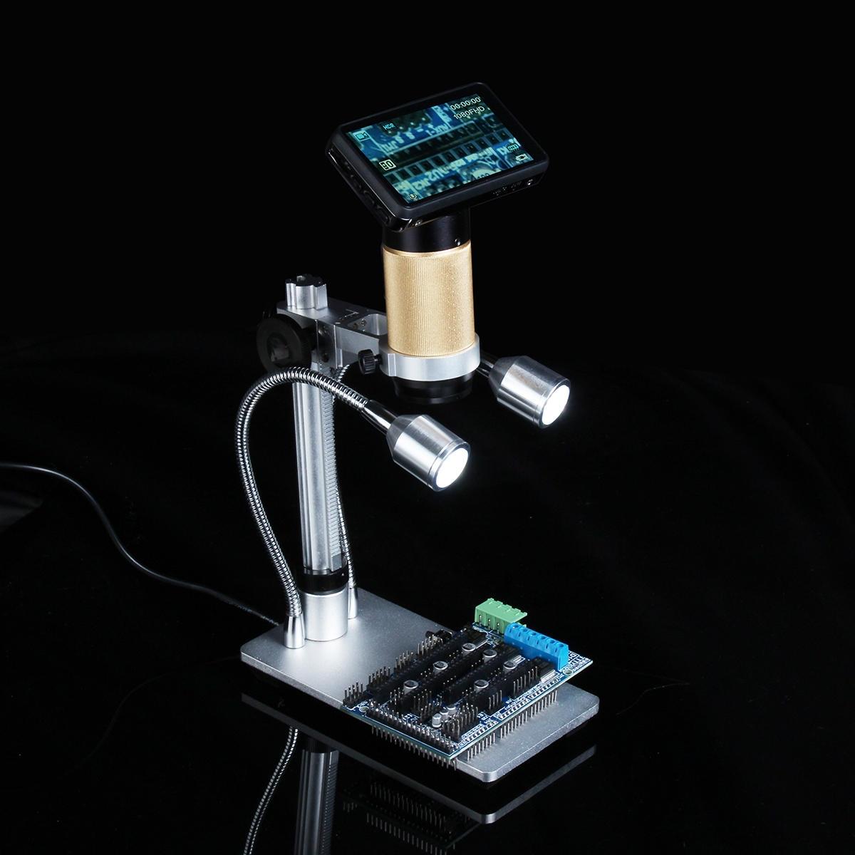 10X-300X Digital Inspection Microscope PCB Reparation HDMI USB Full HD 3.0MP kamera