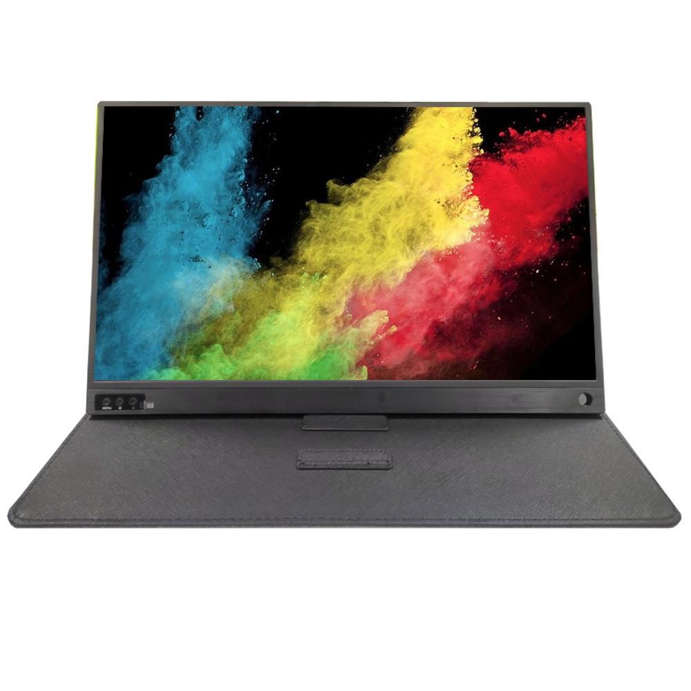 15,6 tum IPS full HD bärbar datorspelskärm pekskärm med batteri för bärbar dator