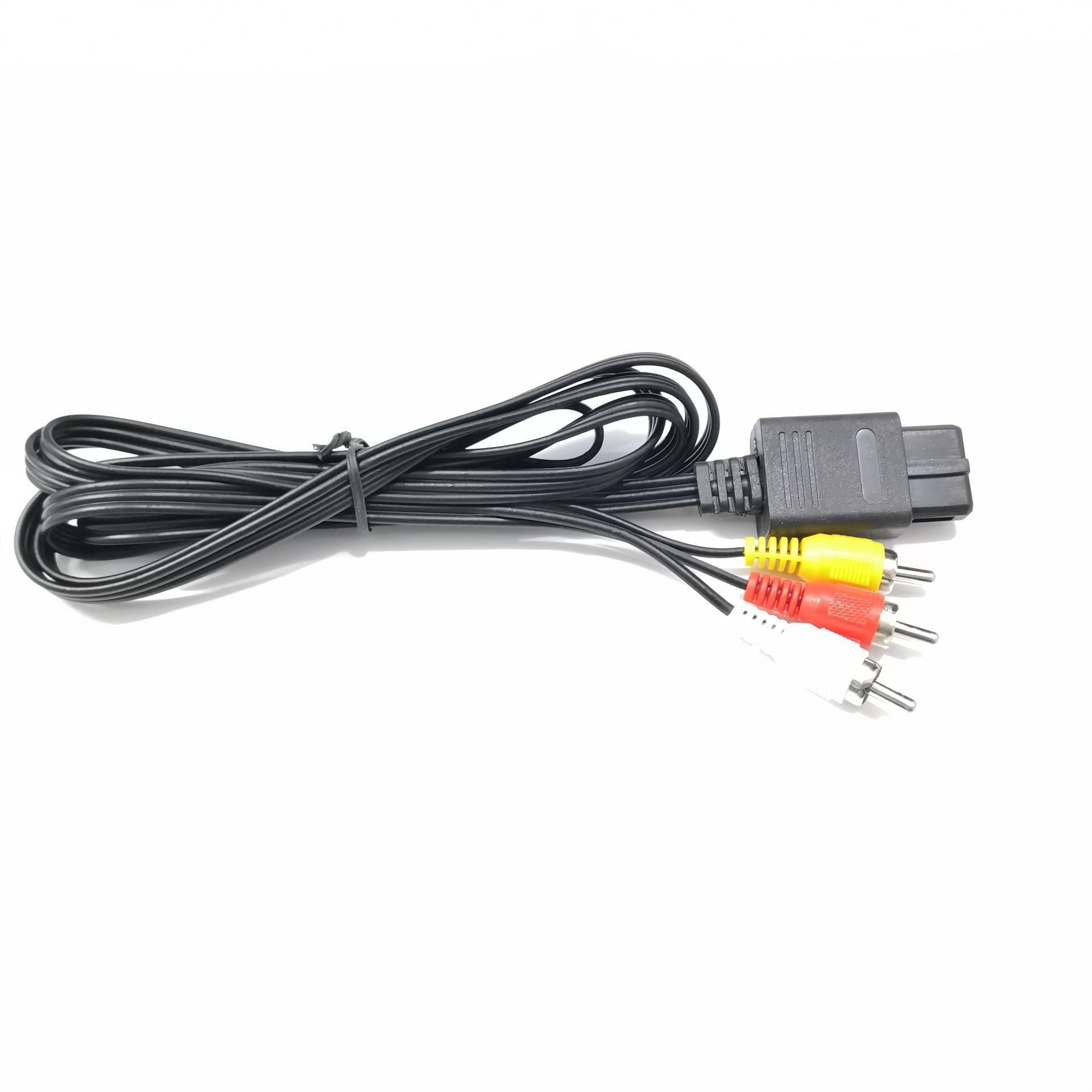 1,8 m videospelkonsol AV-kabel ljudvideokabel för Nintendo Switch SNES Game Cube spelkonsol