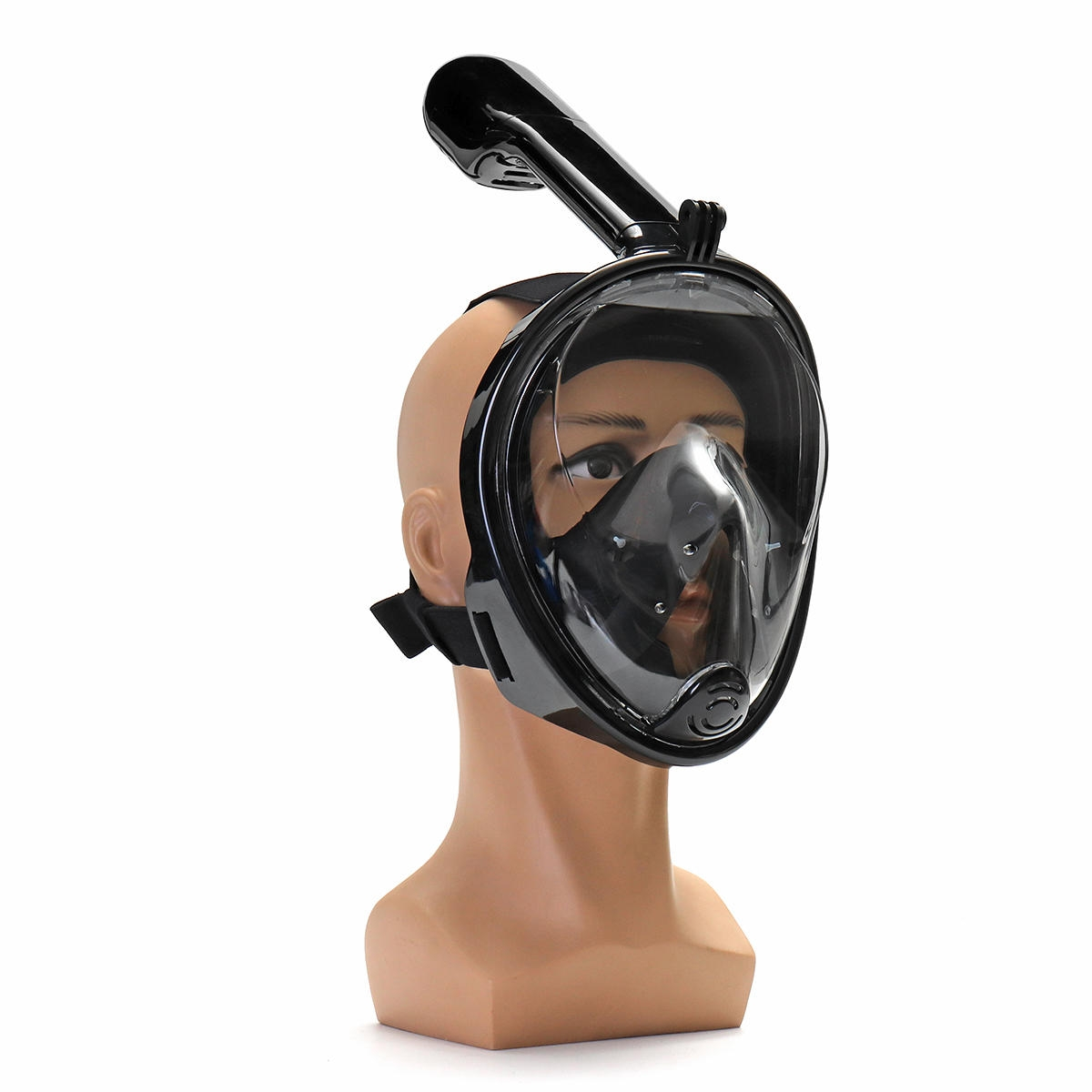 180 ° View Area Full Dry Snorkeling Mask 185x150x188mm Mistbeständig justering Dykmask med kamerabas