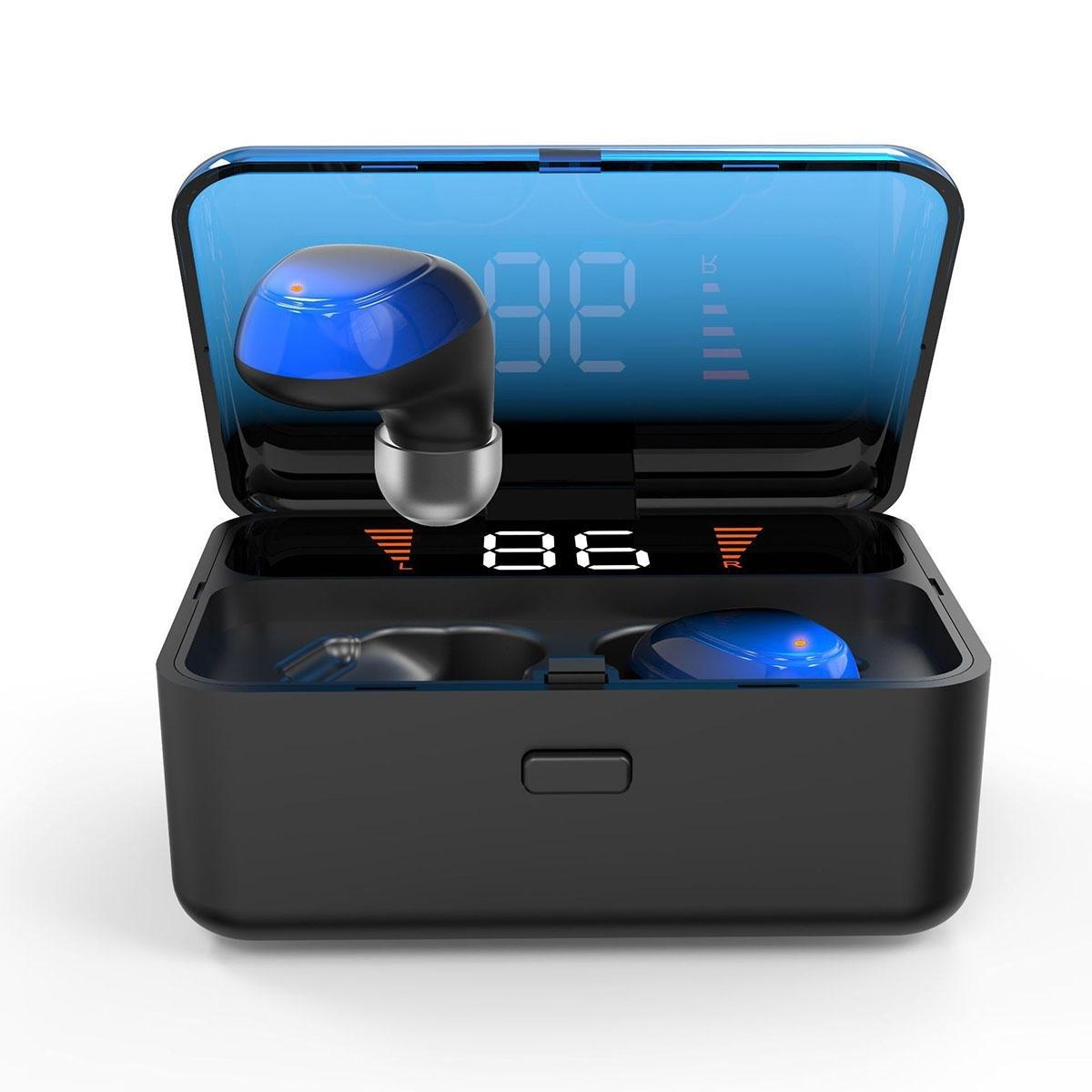2000mAh Trådlös bluetooth 5.0 Hörlurar Touch Control Headset Hörlurar Stereohörlurar med mikrofon