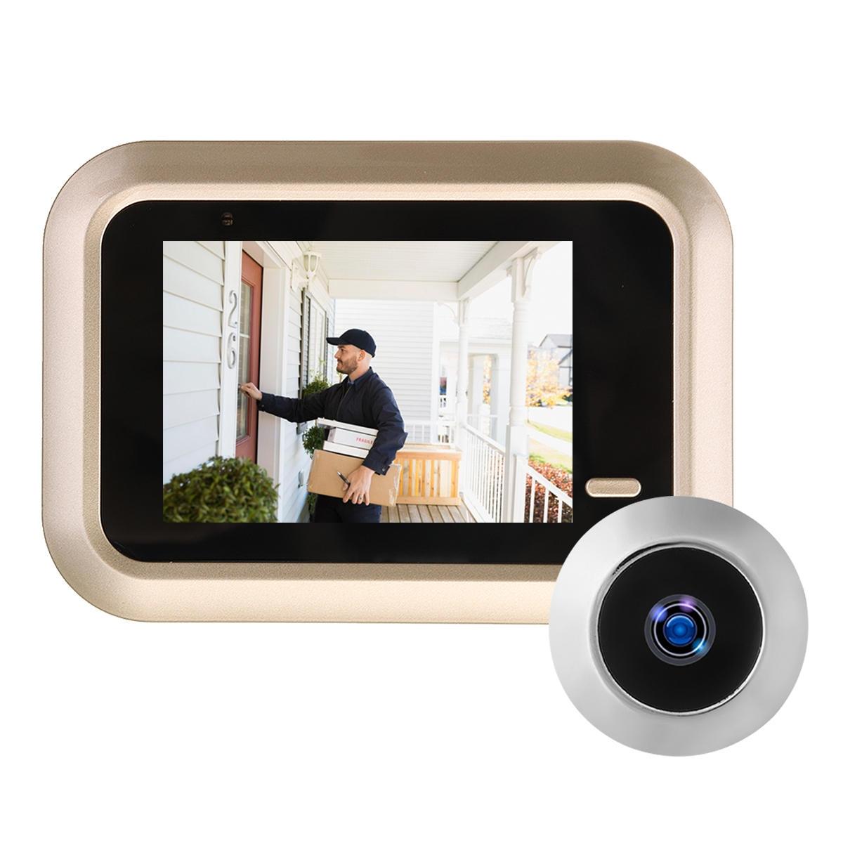 2,4 tums LCD Digital Video Doorbell Viewer Peephole Security Dörrövervakningskamera