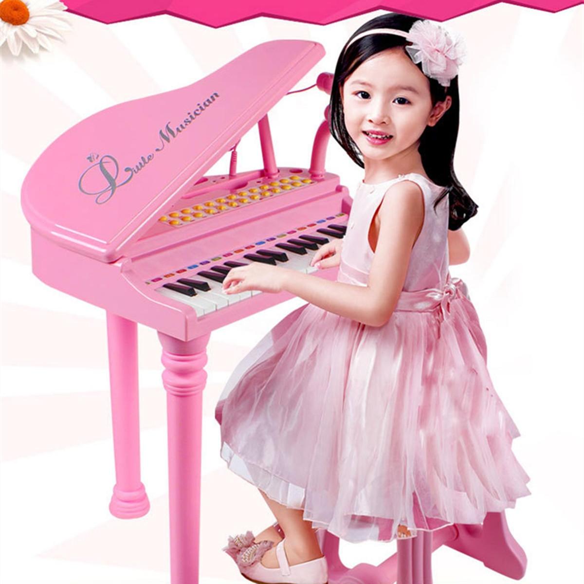 31 nycklar Barn Barn Elektroniskt tangentbord Elektronisk pianomikrofonpall Musikgåvor