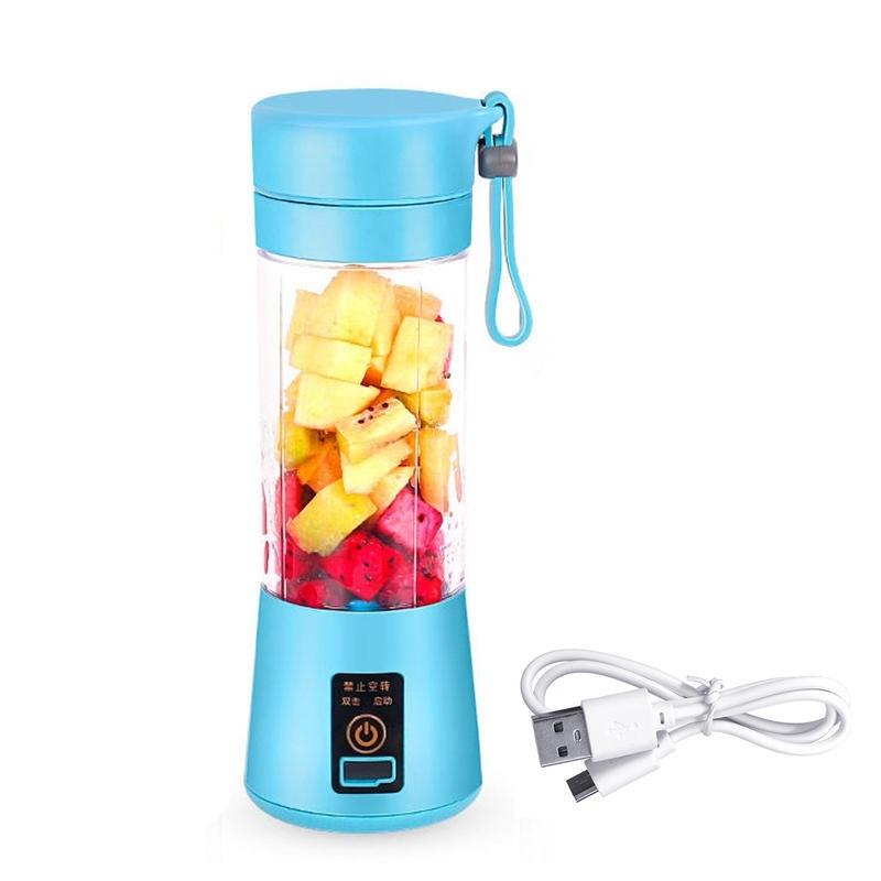 380ml bärbar juicer USB-laddningsbar fruktblender juicer shakerflaska