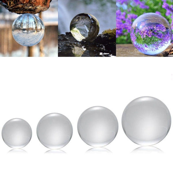 50/100/120 / 150mm K9 Crystal Photography Lens Ball Photo Prop Bakgrundsinredning julklappar