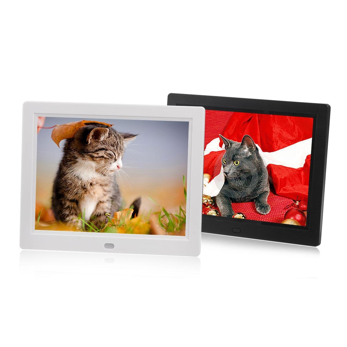8-tums TFT LCD Digital fotoram Elektroniskt bildalbum MP3-videospelarsur
