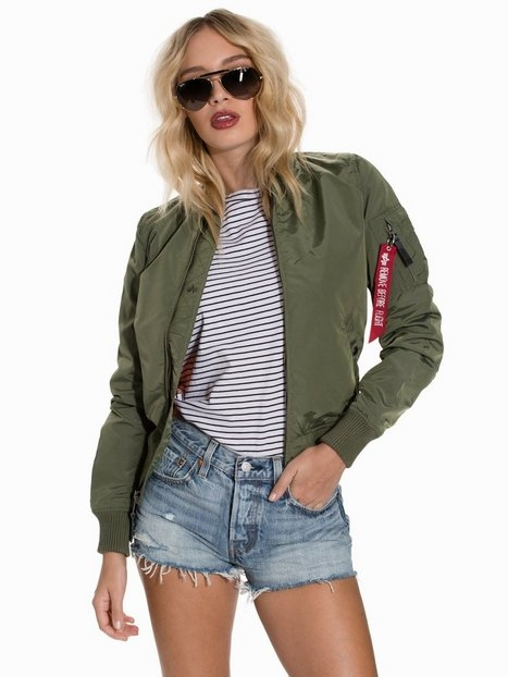 Alpha Industries Ma- 1 Tt Wmn Bomberjackor Green