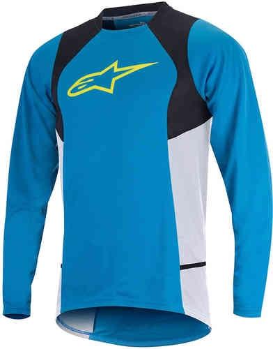 Alpinestars Drop 2 Långärmad skjorta Blå Gul S