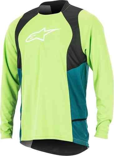 Alpinestars Drop 2 Långärmad skjorta Svart Grön XL