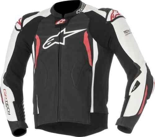 Alpinestars GP Tech V2 Tech-Air Motorcykel läder jacka Svart Vit Röd 48