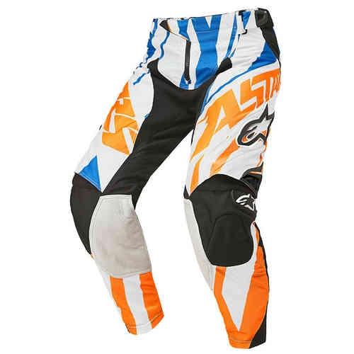 Alpinestars Techstar Motocross byxor 2015 Blå Orange 28