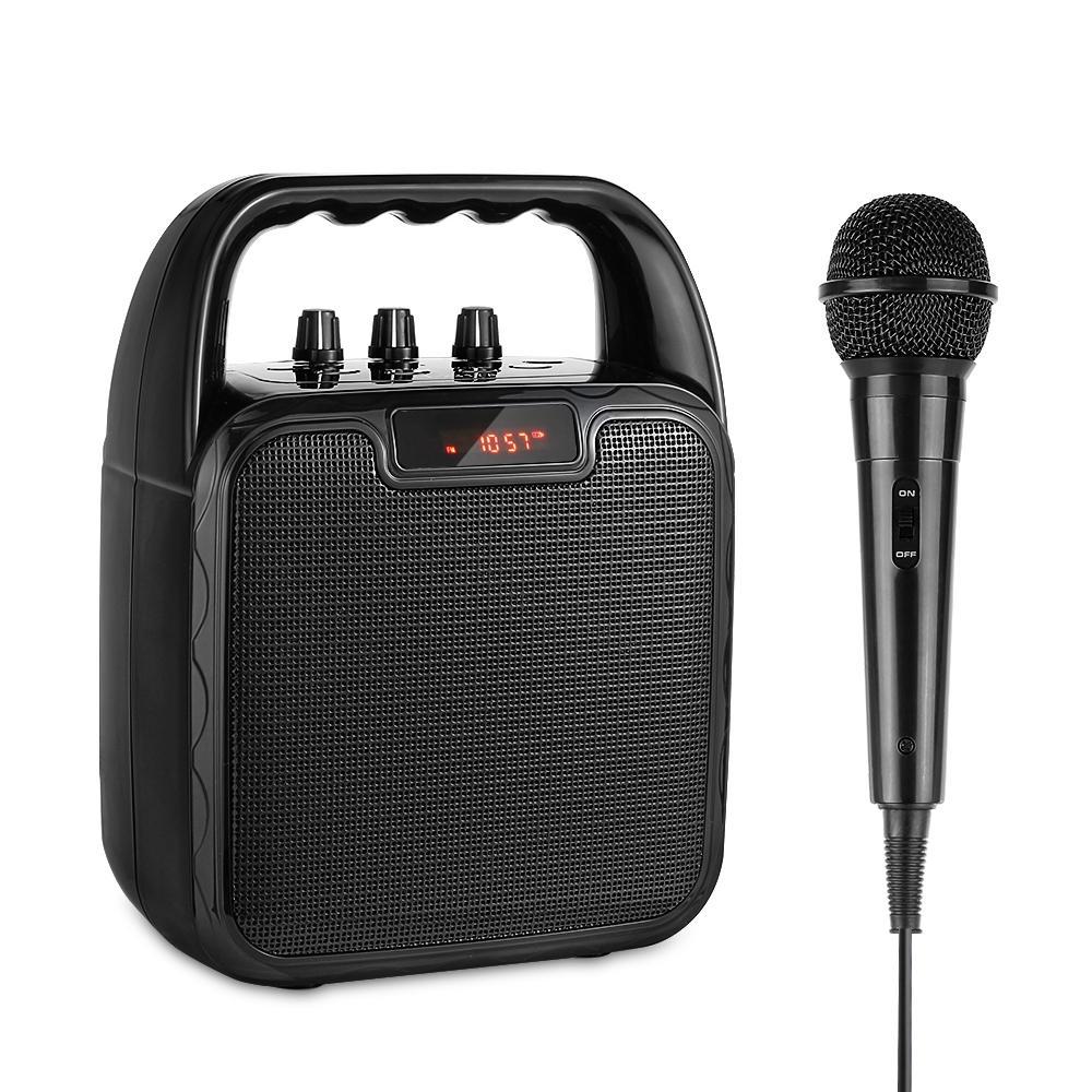 Archer bärbar Bluetooth-högtalare Karaoke mikrofon Datorhögtalare med mikrofon Mobil ljudmaskin Röstförstärkare för Blue