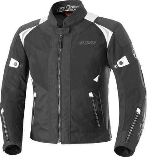 Büse Solara Kära motorcykel textil jacka Svart Vit 40