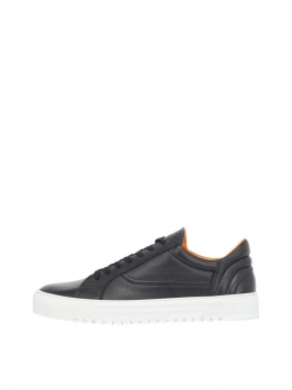 BIANCO Men's Cleated Leather Sneakers Man Svart