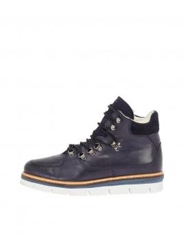 BIANCO Warm Ankle Boots Kvinna Blå
