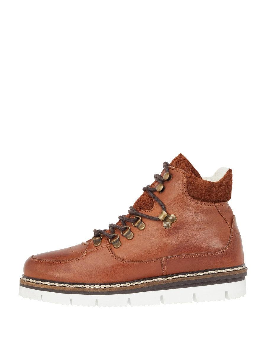 BIANCO Warm Ankle Boots Kvinna Brun