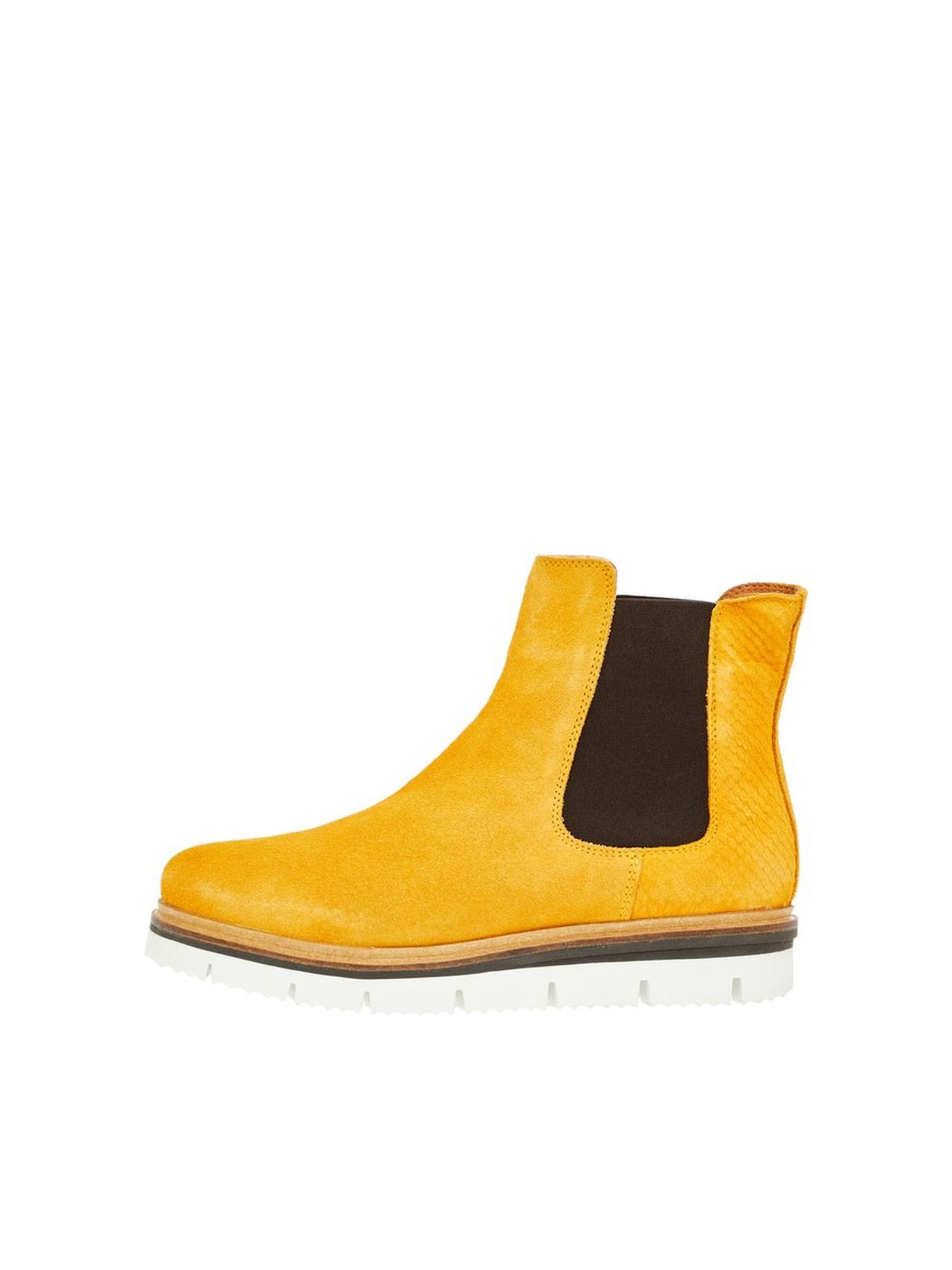 BIANCO Warm Cleated Chelsea Boots Kvinna Gul