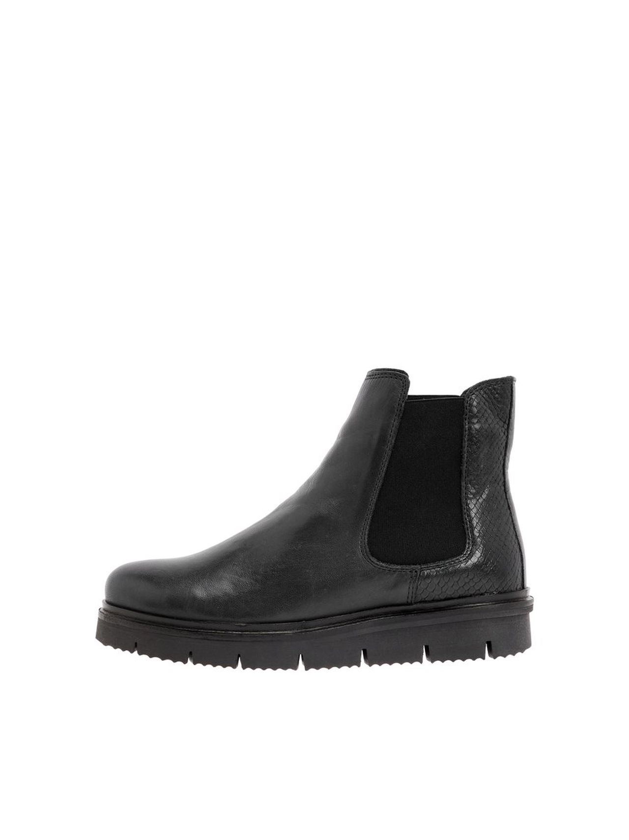 BIANCO Warm Cleated Chelsea Boots Kvinna Svart