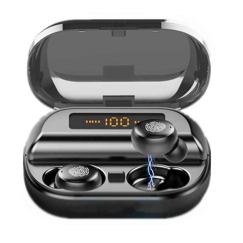 Bakeey TWS trådlös bluetooth 5.0 hörlurar 4000 mAh Power Bank IPX7 vattentät hörlurar med mikrofon för iPhone Xiaomi Hua