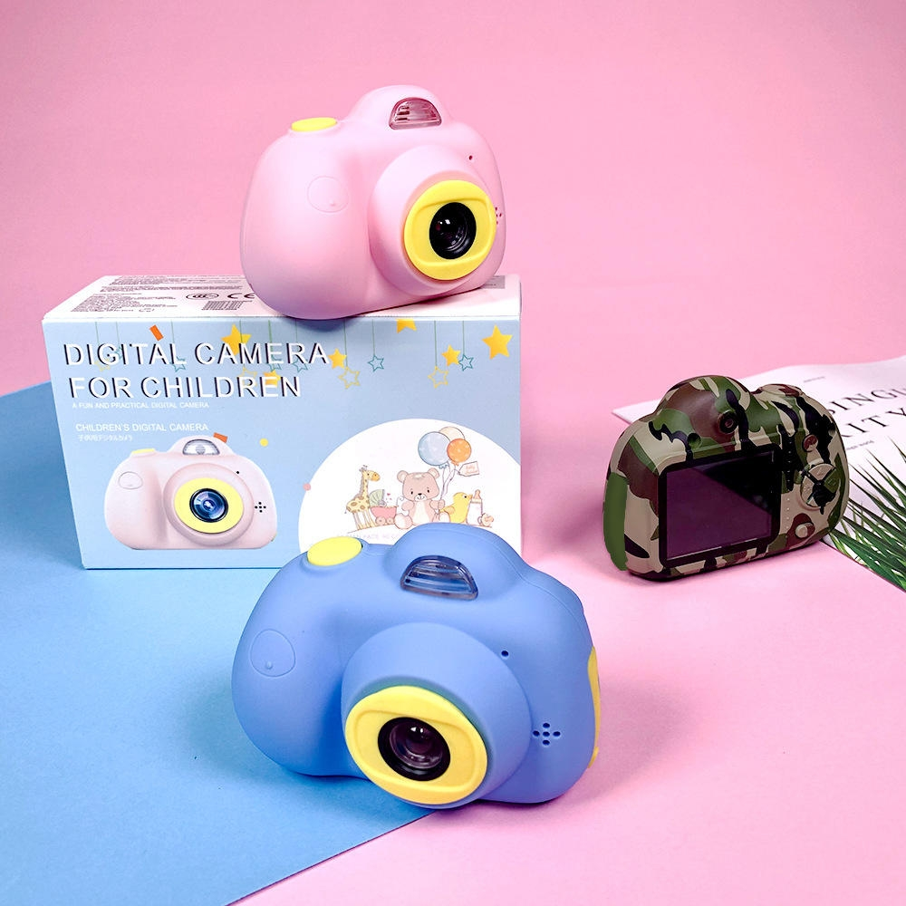 Barn Kamera HD Digital 800P TF Card Videokamera USB Uppladdningsbart Tidig Utbildning Pussel Nyhet Leksaker
