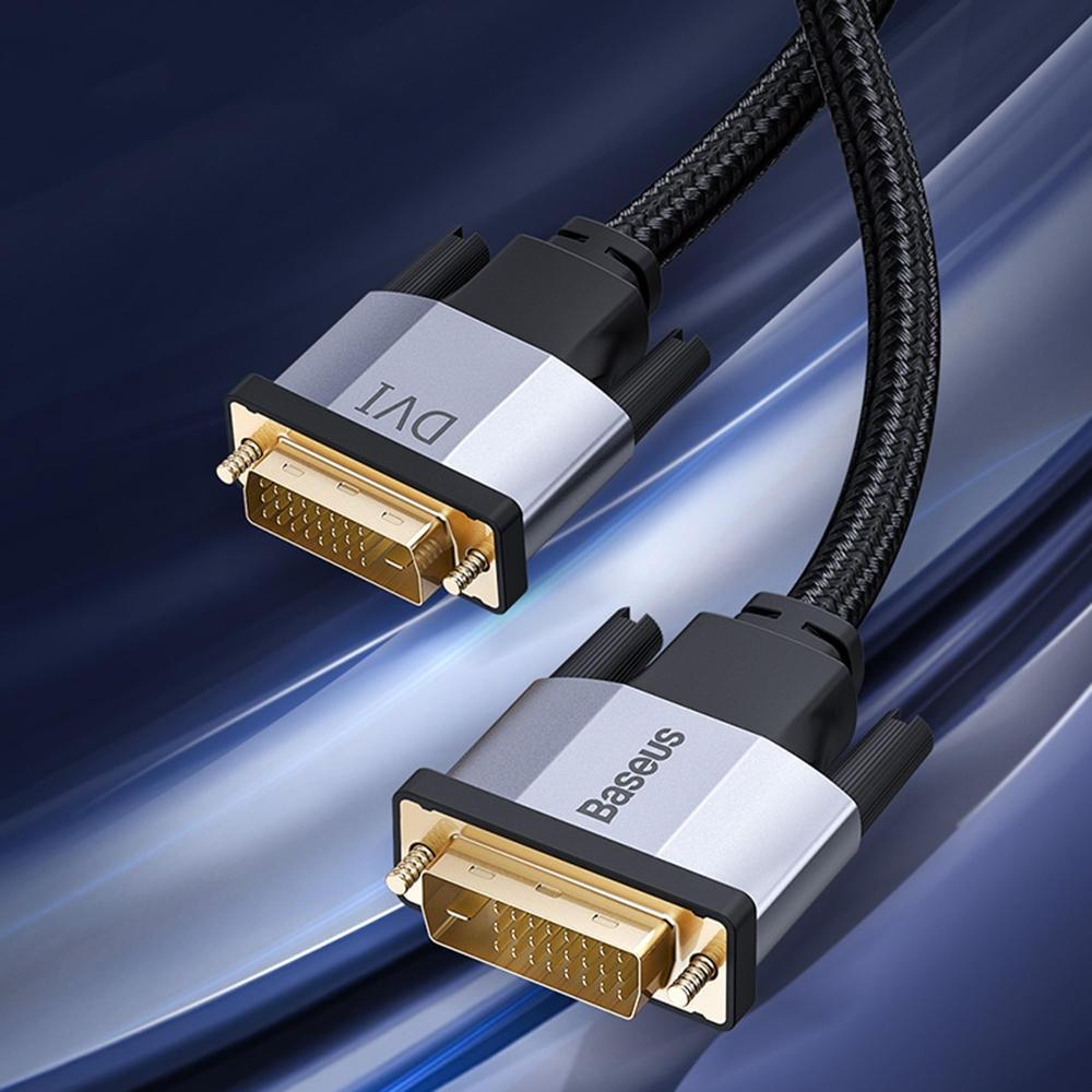 Baseus DVI till DVI Videokabel HD En hane till hane DVI-D 24 + 1 kabeladapter för projektor LCD DVD HDTV XBOX DVI D Vide