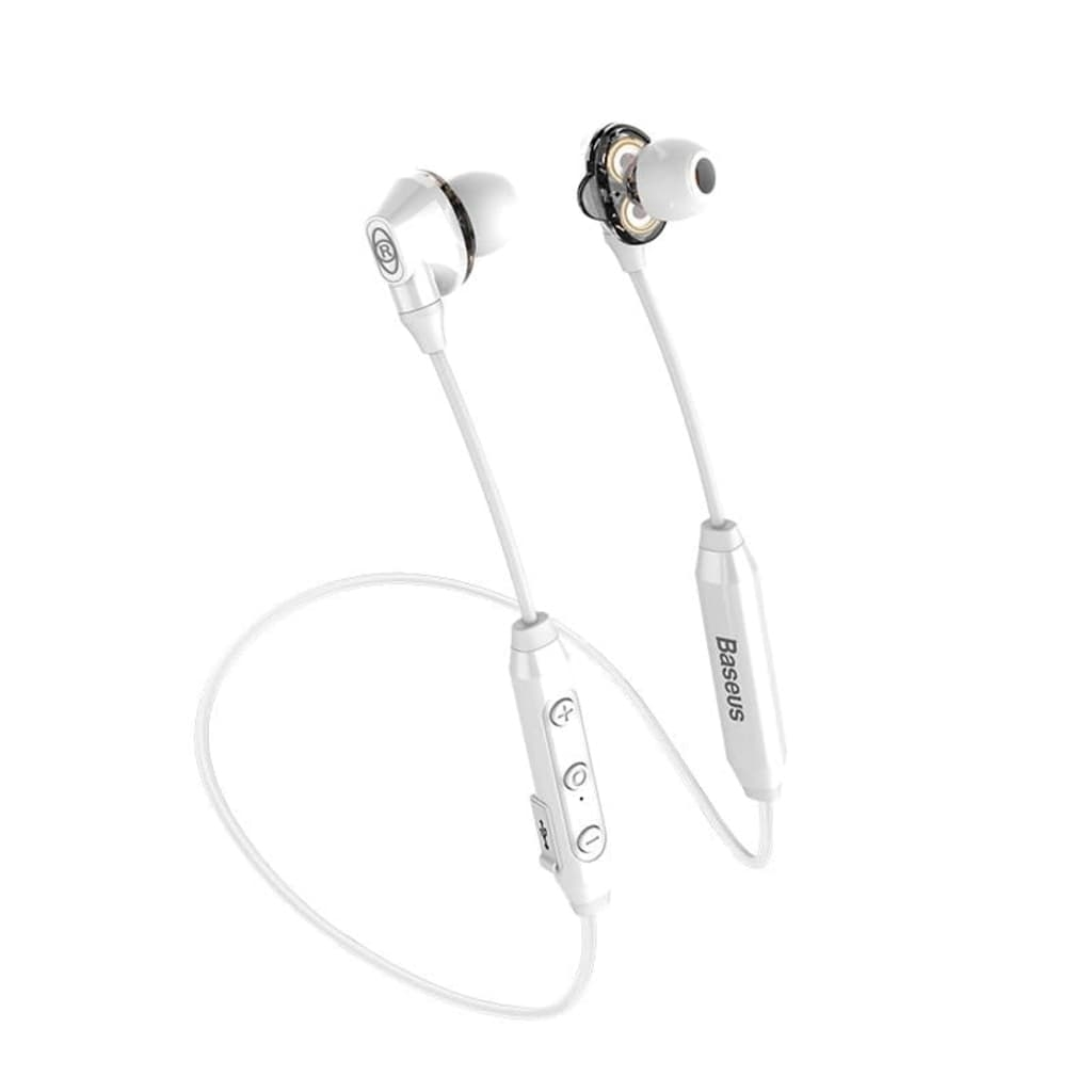 Baseus Trådlöst Encok S10 Bluetooth Headset – Vit