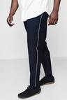 Big And Tall Tailored Trousers With Piping