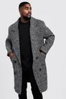 Big & Tall Textured 3/4 Smart Lined Overcoat