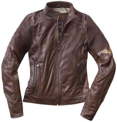 Black-Cafe London Amol Damer motorcykel skinnjacka Brun S