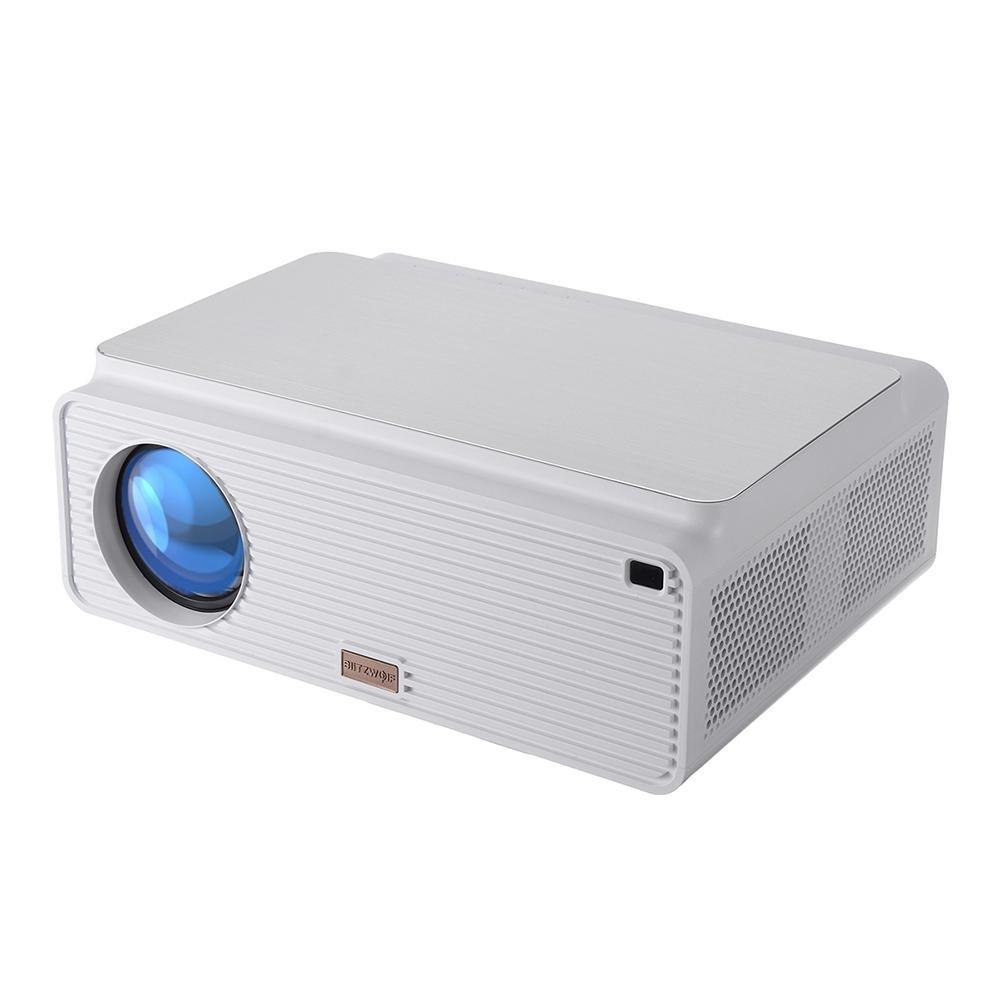 Blitzwolf® BW-VP2 LCD-projektor 6500 Lumen-stöd 4K-upplösning Bildjustering flera portar Inbyggd högtalare Portabel smar
