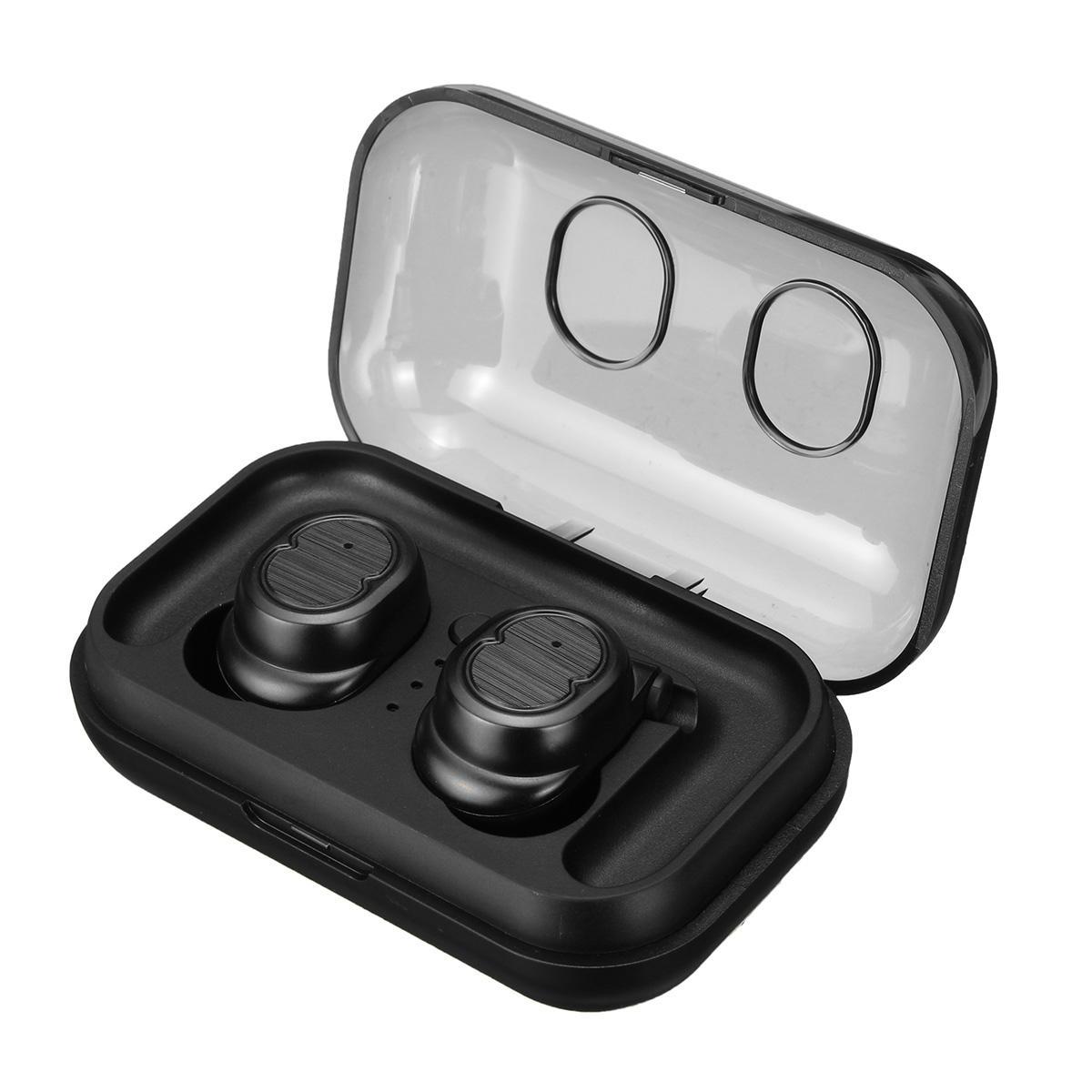 [Bluetooth 5.0] True Wireless Sport Örhängen HiFi Stereo Hörlurar Touch Control Auto Parning Hörlurar med Mic