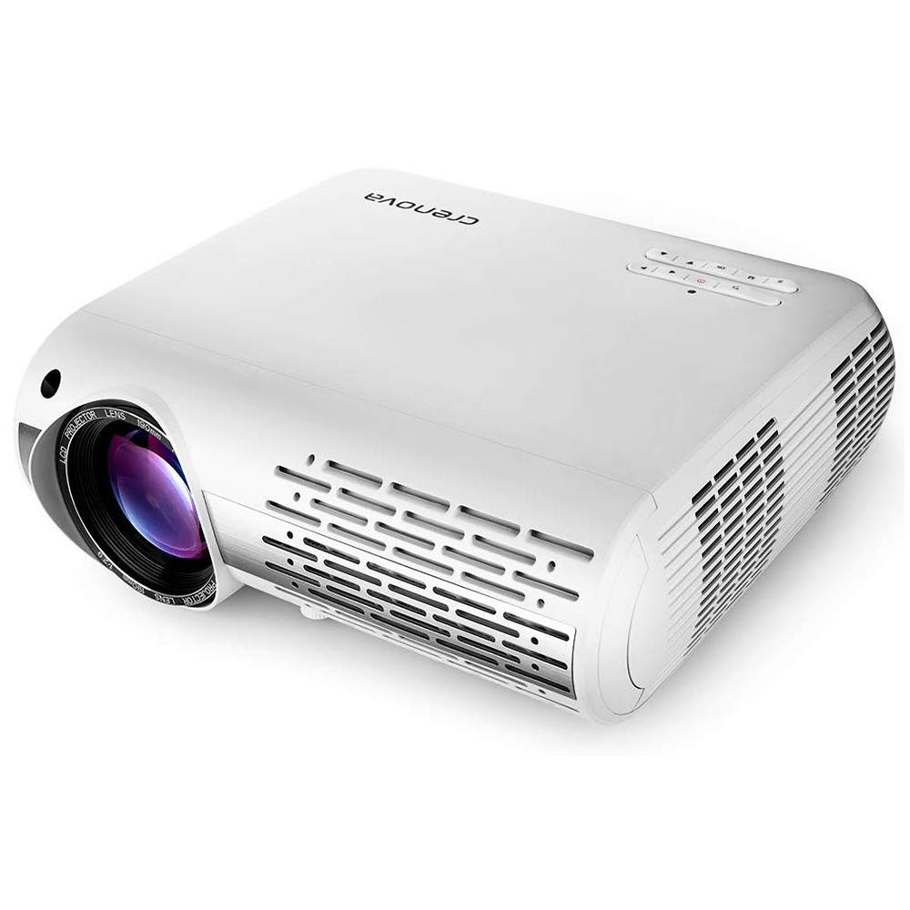 Crenova XPE660 LCD-projektor 6500 Lumens 1920 * 1080 1080P 4K LED Videoprojektor Hemmabio Bio Grundversion