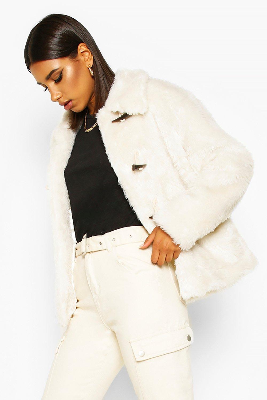 Duffle Faux Fur Jacket, White