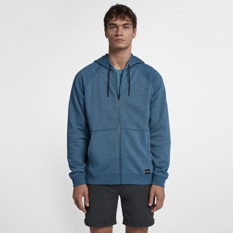 Fleecehuvtröja Hurley Crone Hooded Full-Zip för män – Blå