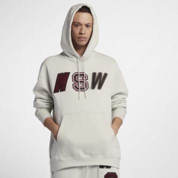 Fleecehuvtröja Nike Sportswear NSW med ledig passform för män - Cream