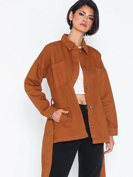Glamorous Long Sleeve Belted Jacket Jackor