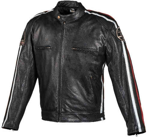 Grand Canyon Revenge Mäns motorcykel skinn jacka Svart 62