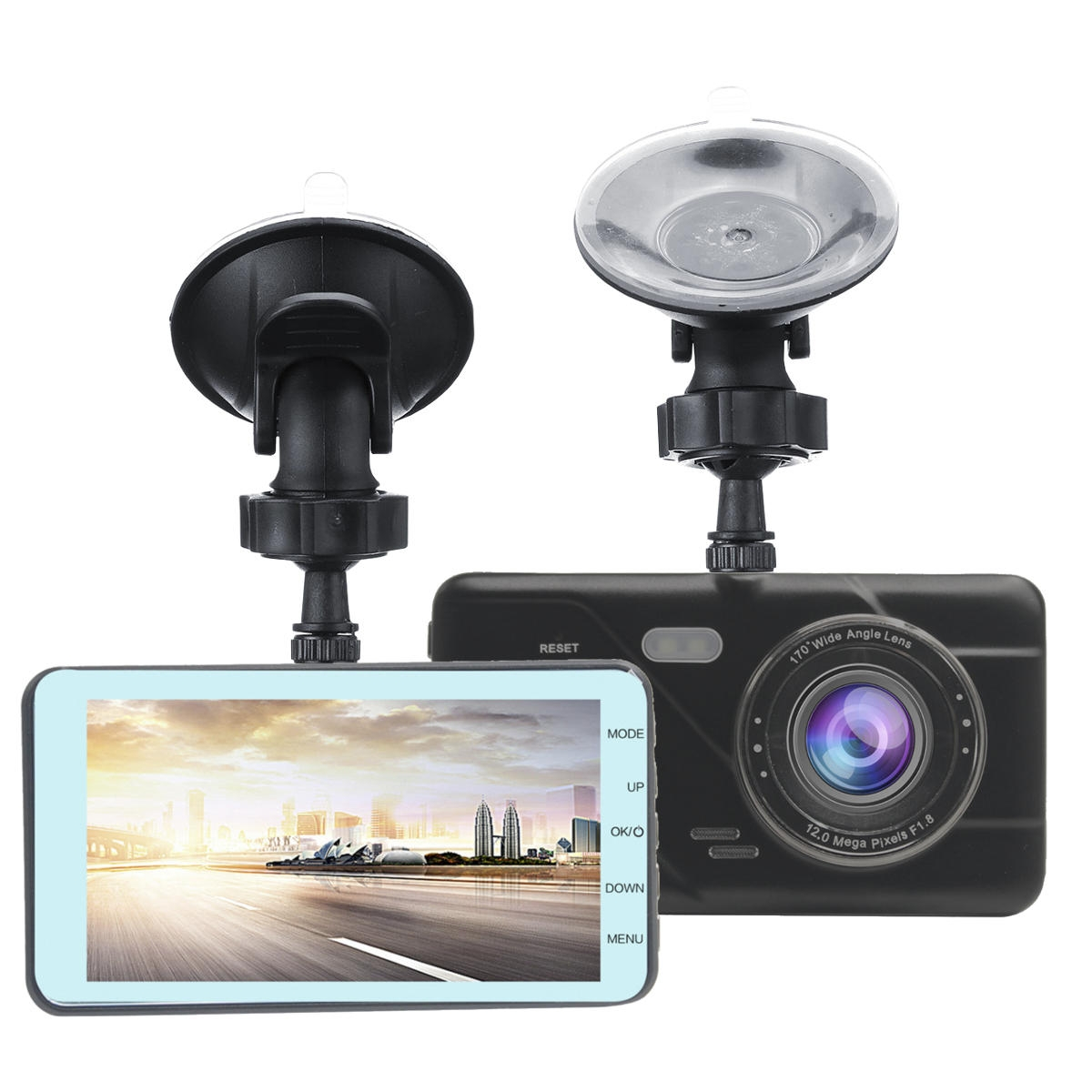 H528 180P Car DVR Night Vision Auto Record 24 timmar Parkeringsmonitor med bakkamera