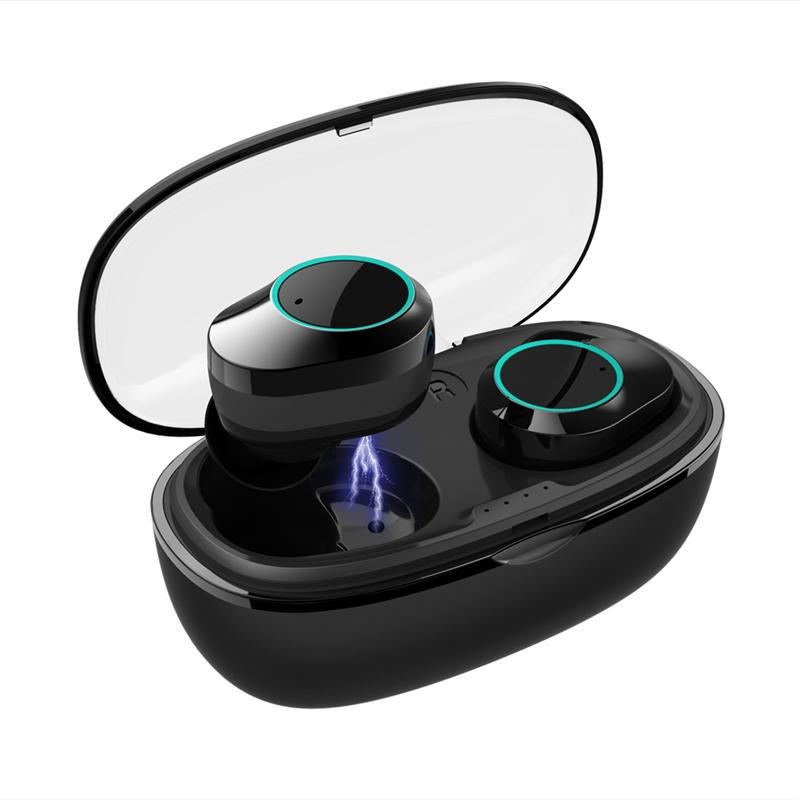 HAMTOD G05 TWS bluetooth 5.0 hörlurar stereo smart touch Type-C laddning vattentät sport hörlurar med mikrofon