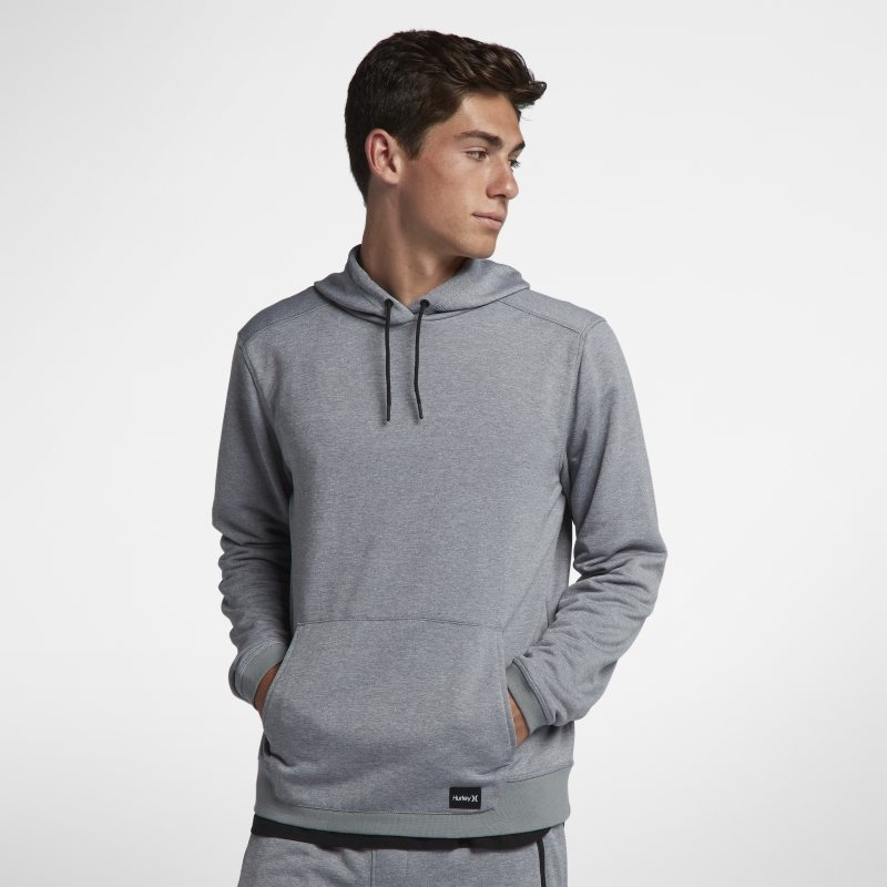 Huvtröja Hurley Dri-FIT Disperse Pullover för män – Grå