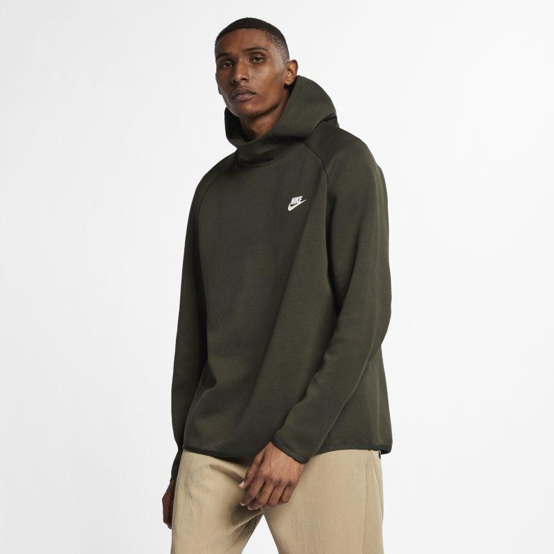 Huvtröja Nike Sportswear Tech Fleece för män – Olive