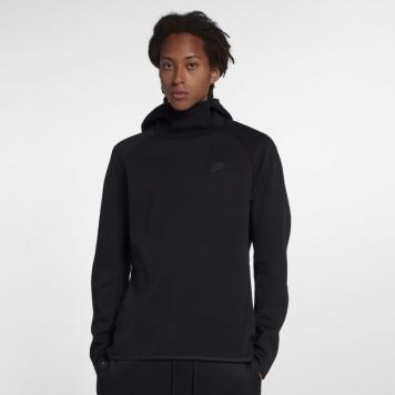 Huvtröja Nike Sportswear Tech Fleece för män - Svart