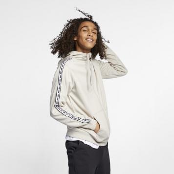 Huvtröja med helt blixtlås Nike Sportswear för män - Brun