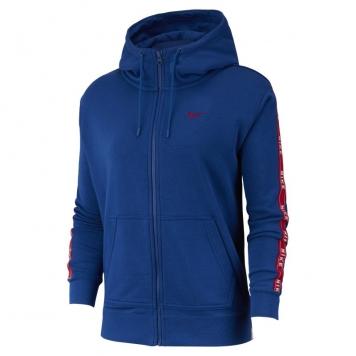 Huvtröja med logga och hel dragkedja Nike Sportswear för kvinnor - Blå