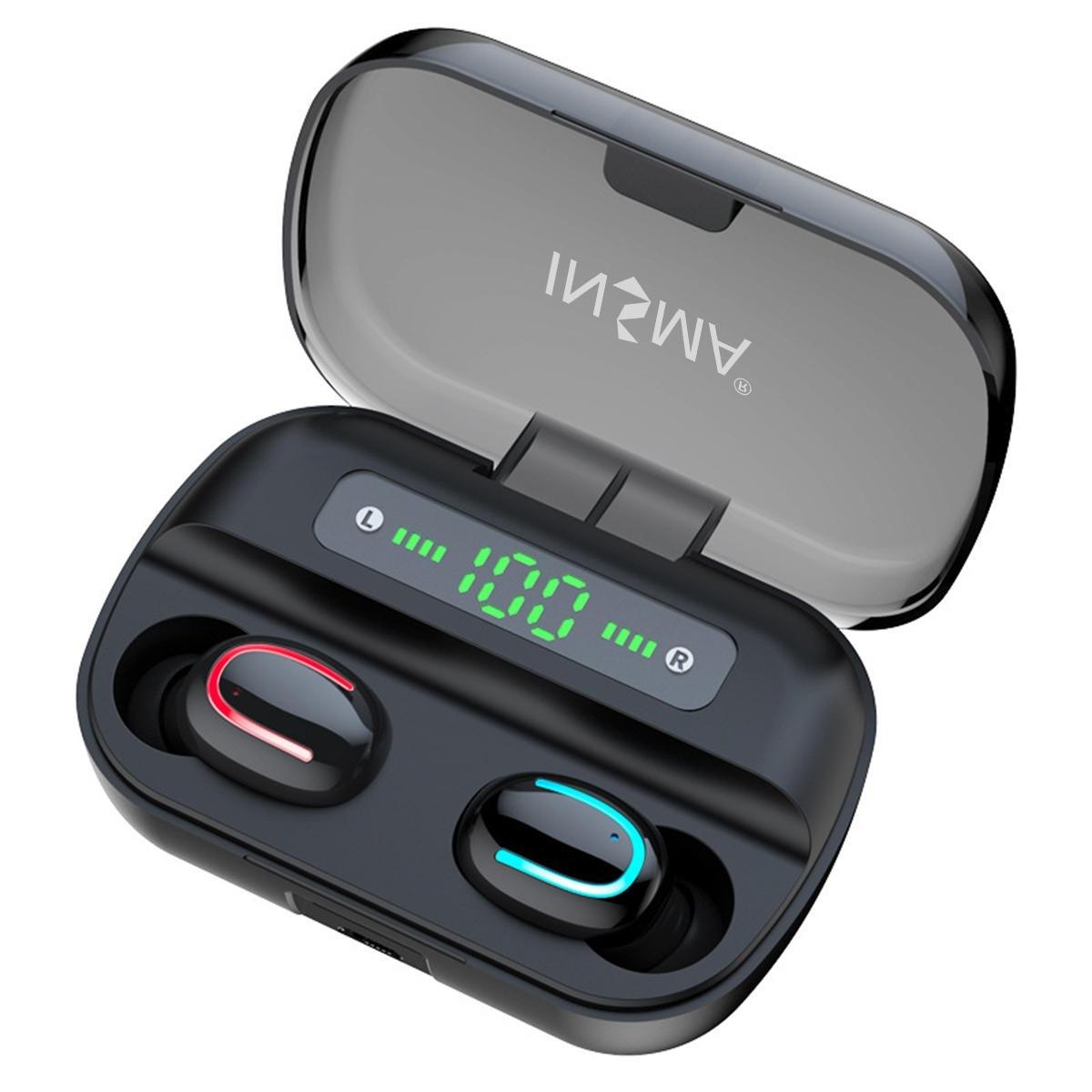 INSMA VFM-2 Smart bluetooth 5.0 TWS Hörlurar Digital display Trådlös stereohörlurar med 4000 mAh Power Bank