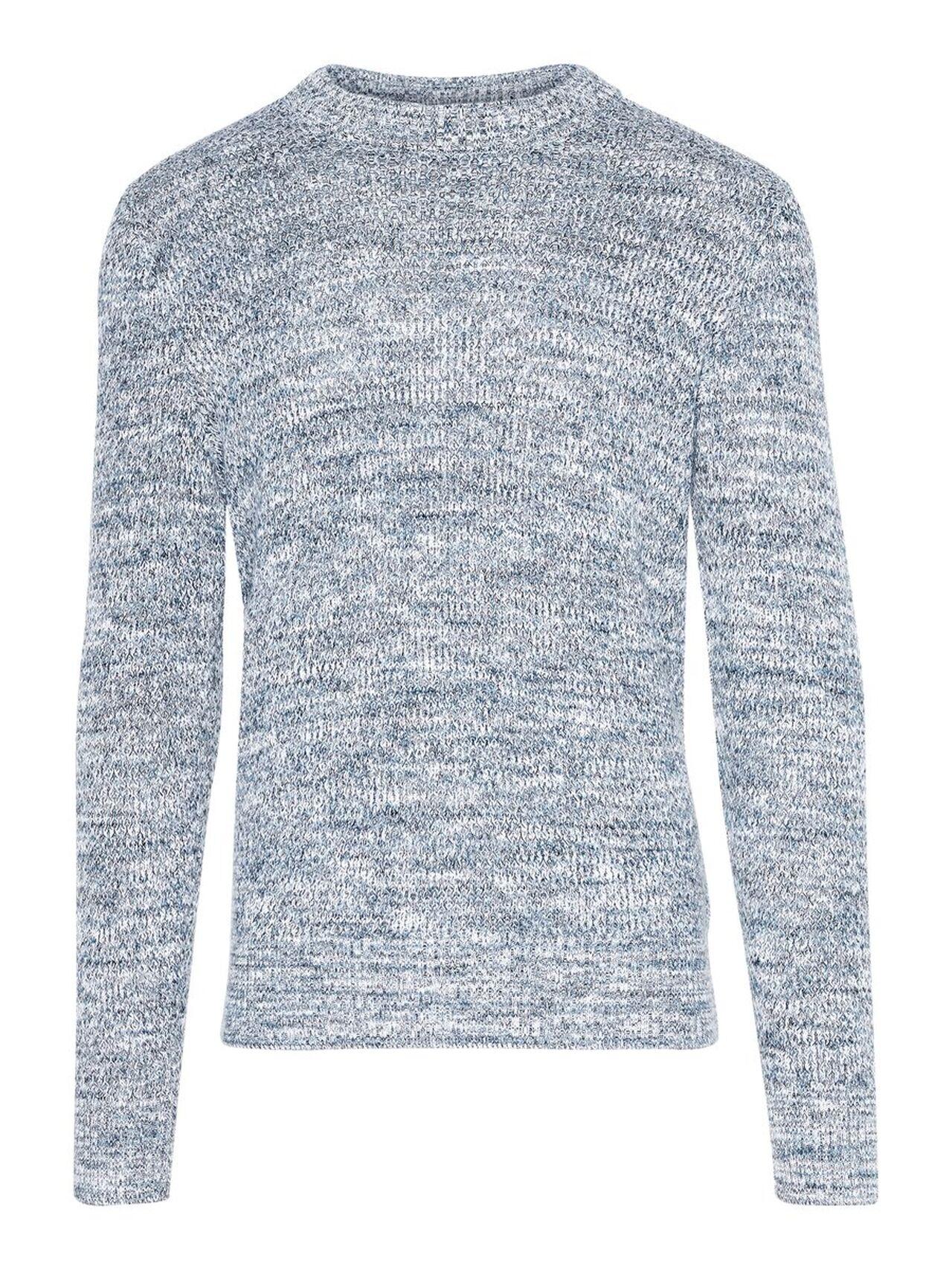 J.LINDEBERG Devin 2-tone Structure Sweater Man Blå