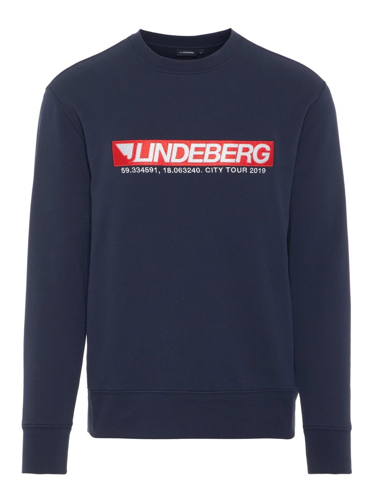 J.LINDEBERG Hurl C-neck Ring Loop Sweat Sweatshirt Man Blå