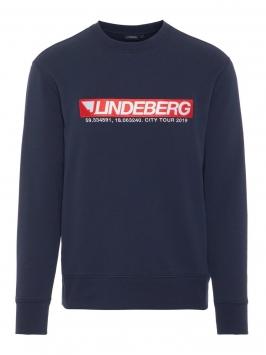 J.LINDEBERG Hurl C-neck Ring Loop Sweat Sweatshirt Man Blå
