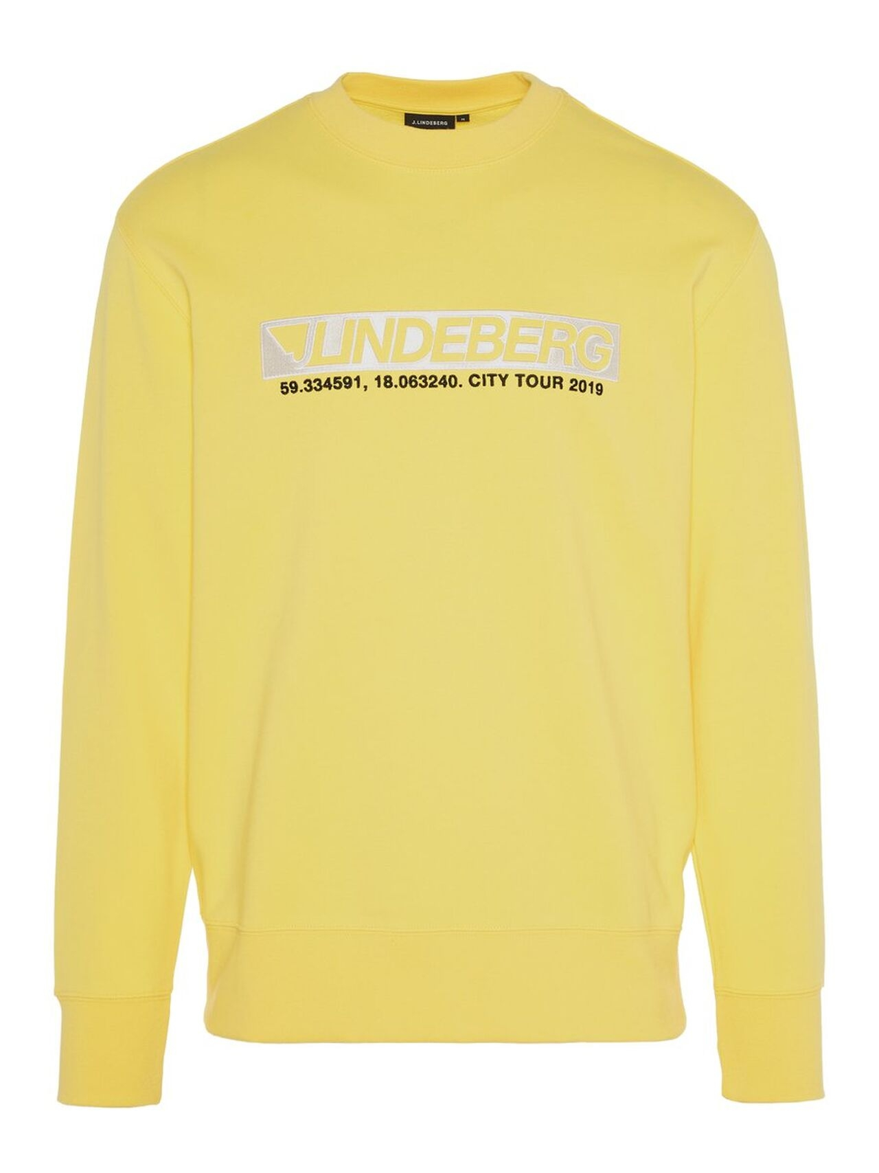 J.LINDEBERG Hurl C-neck Ring Loop Sweat Sweatshirt Man Gul